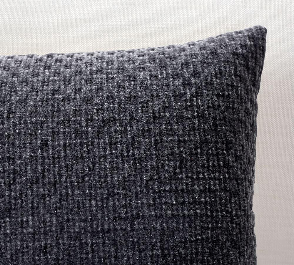 Stonewashed Cross-Stitched Cushion Cover