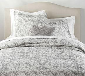 Talisa Printed Quilt Cover & Pillowcases - Grey