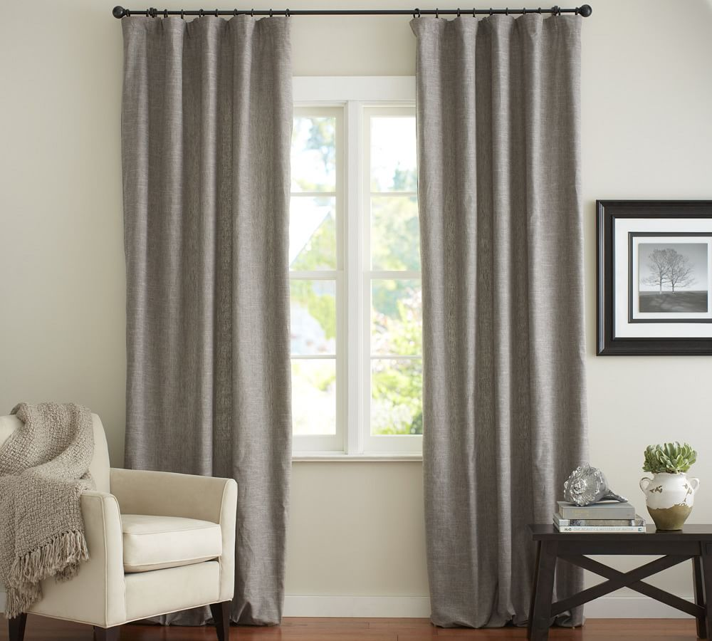 emery linen cotton curtain pottery barn au. Black Bedroom Furniture Sets. Home Design Ideas