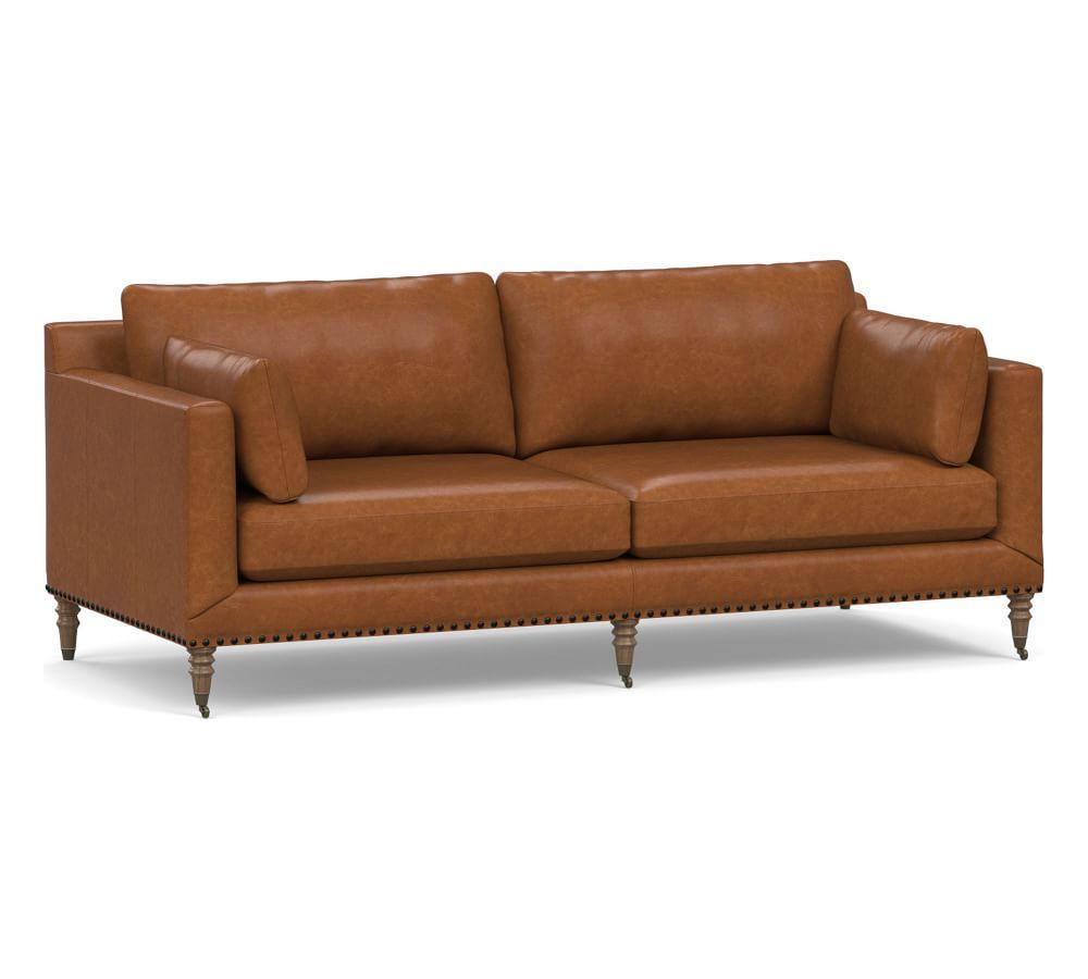 Tallulah Leather Sofa (213 cm)