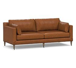 Tallulah Leather Sofa (213 cm)