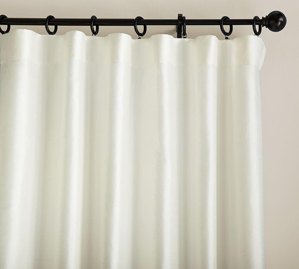Dupioni Silk Curtain - Ivory