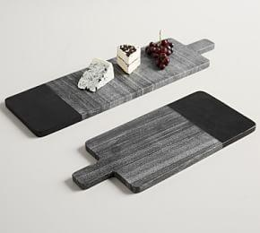 Acacia Wood & Marble Cheese Boards