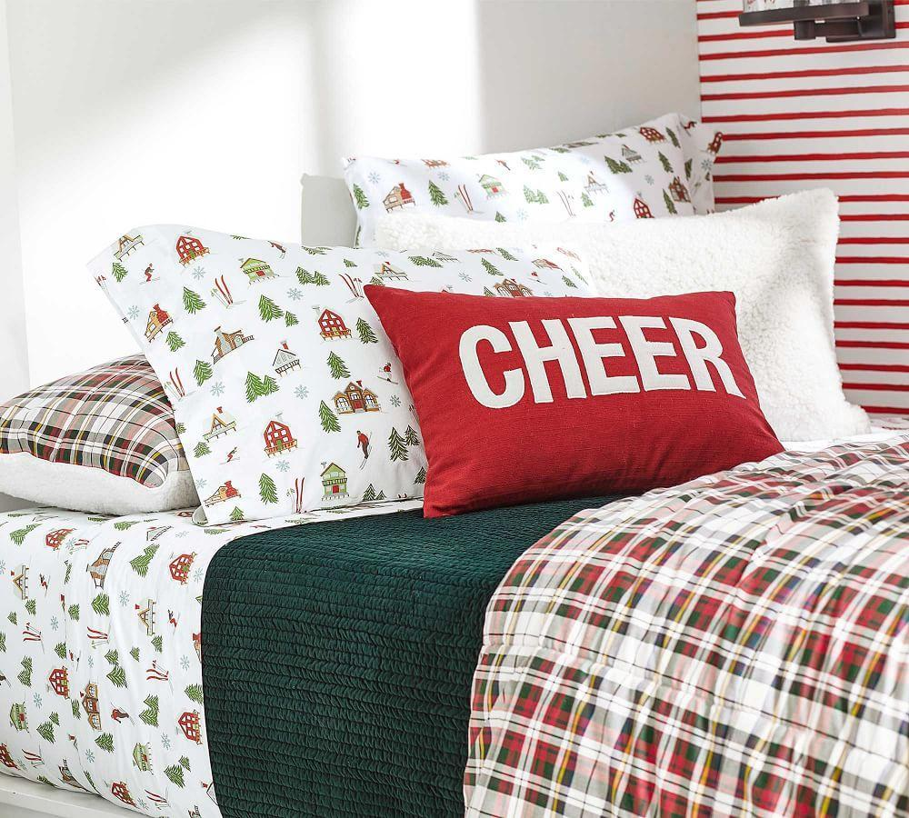 Christmas Cheer Applique Cushion Cover