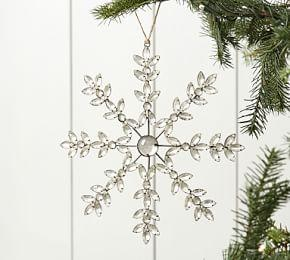 Classic Jewelled Snowflake Ornament