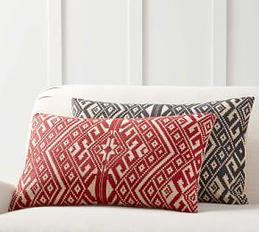 Donner Embroidered Lumbar Cushion Cover