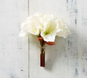 Faux Amaryllis Bundle - White