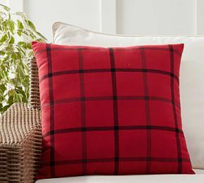 Indoor/Outdoor Anderson Plaid Cushion