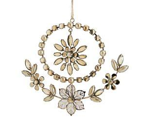 Jewelled Floral Circle Ornament