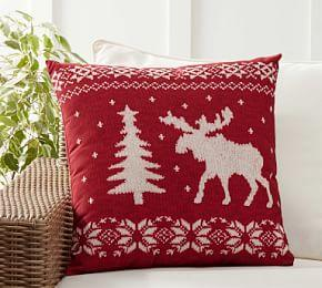 Indoor/Outdoor Sweater Print Cushion