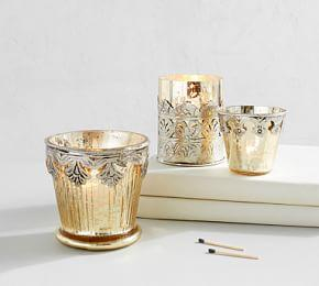 Gold Madeline Mercury Votive Holders
