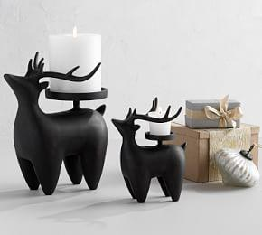 Nordic Reindeer Candle Holders