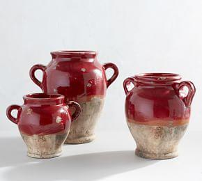 Sonoma Ceramic Vases - Red