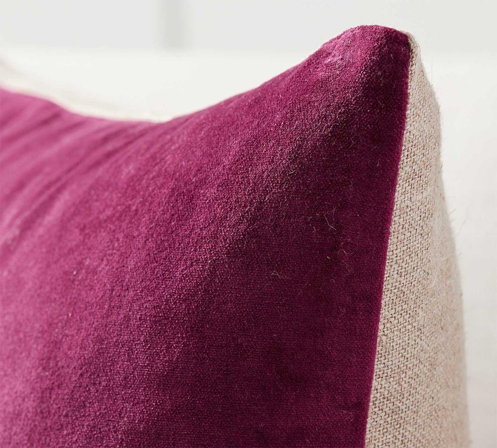 Velvet with Linen Cushion Cover