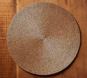 Gold Beaded Round Placemat