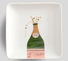 Denise Fiedler Champagne Cheers Appetiser Plates, Set of 4