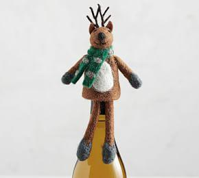 Reindeer Wine Topper