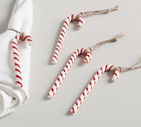 Candy Cane Napkin Rings, Set of 4