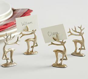 Merry Reindeer Place Card Holders, Set of 4