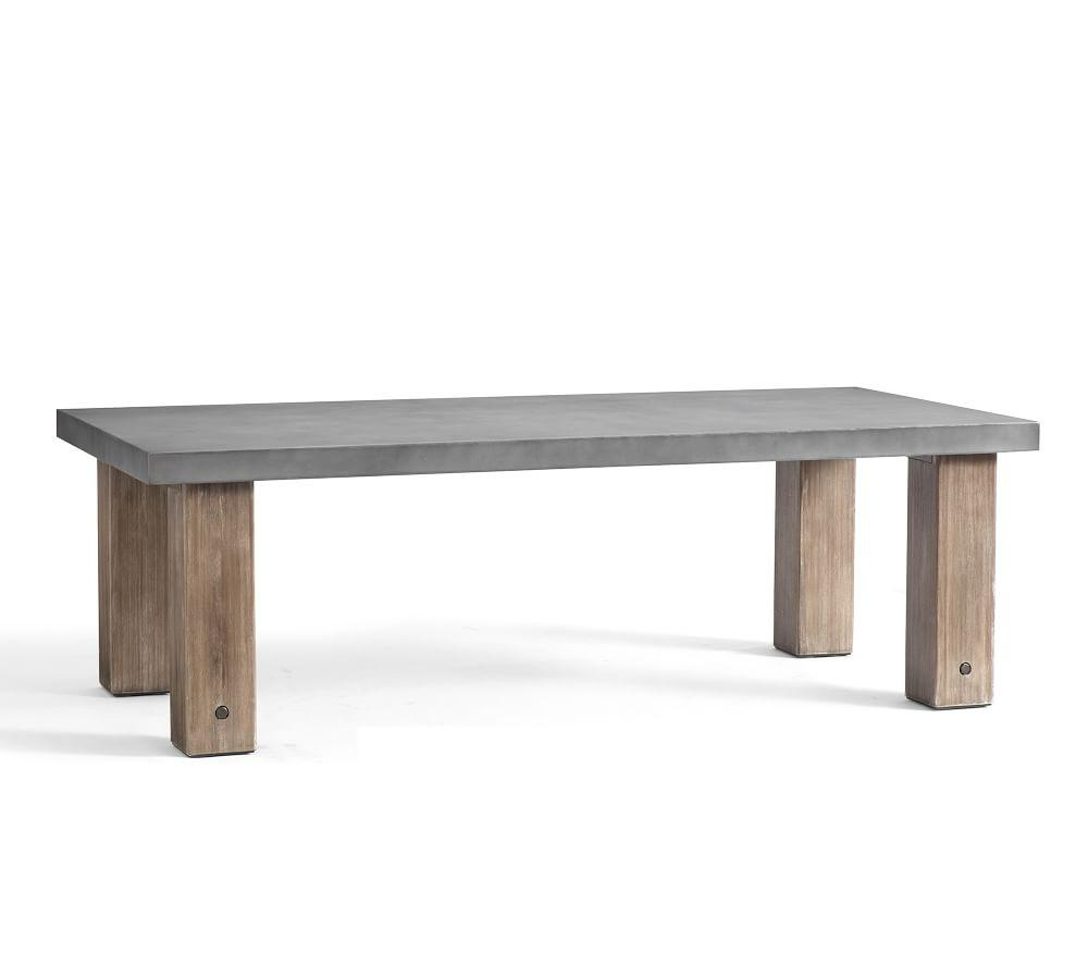 Abbott Chunky Leg Dining Table, Grey
