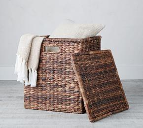 Havana Oversized Lidded Square Basket