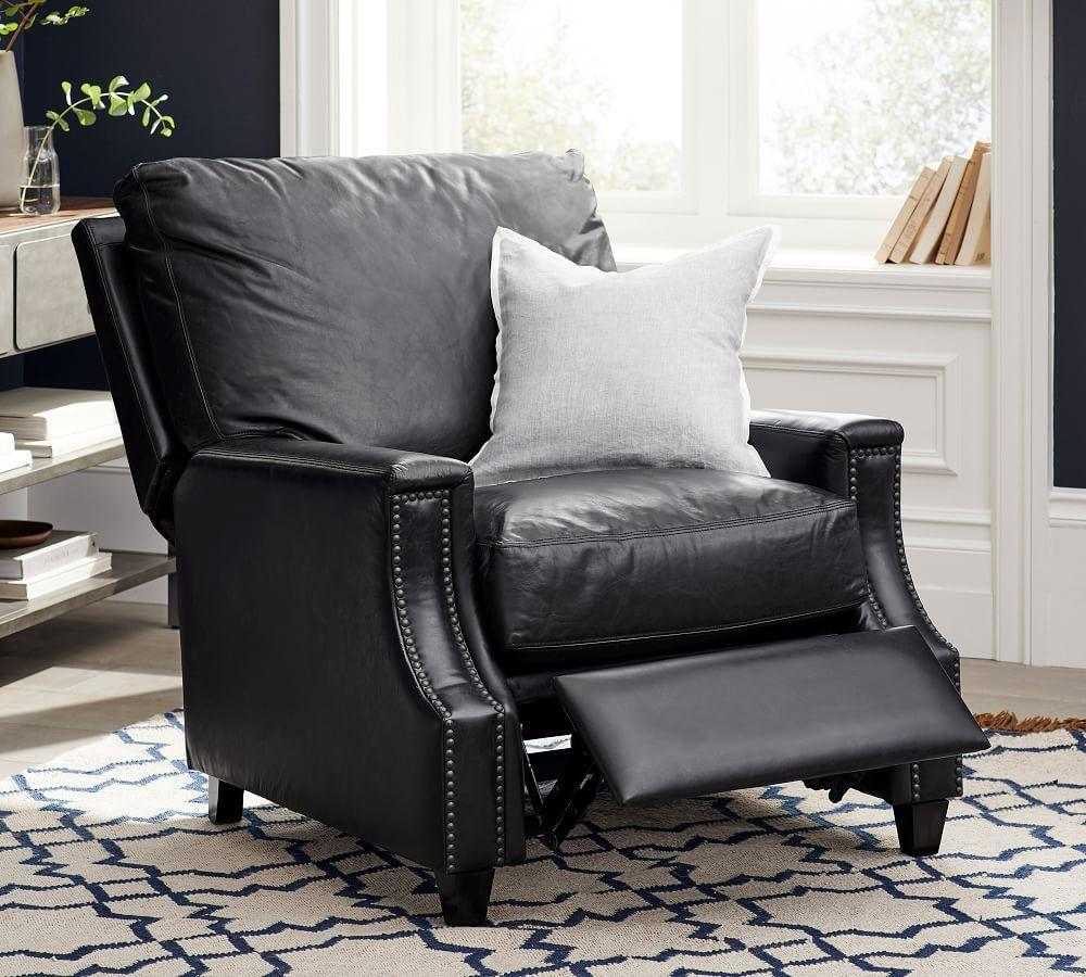 James Square Leather Recliner