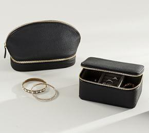 Reese Leather Jewellery Collection - Black