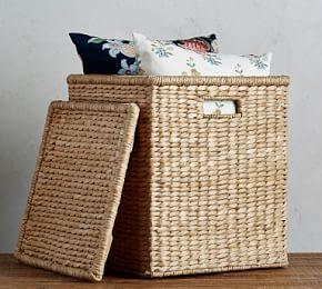 Savannah Oversized Lidded Square Basket