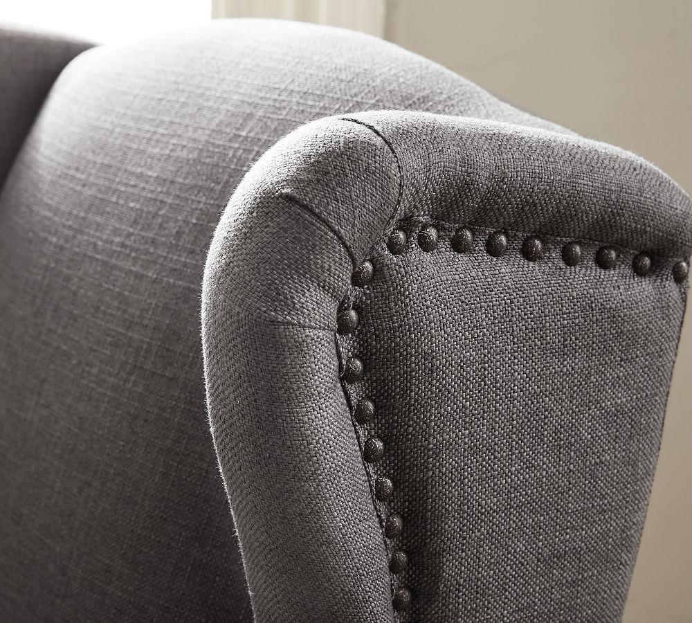 SoMa Delancey Wingback Upholstered Armchair - Navy
