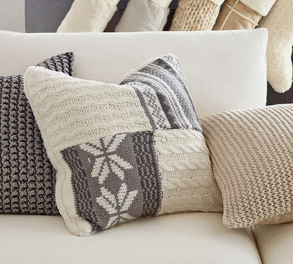 Sweater Patchwork Cushion Cover