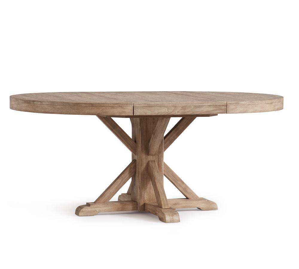Benchwright Extending Round Table - Seadrift (123 - 183 cm)