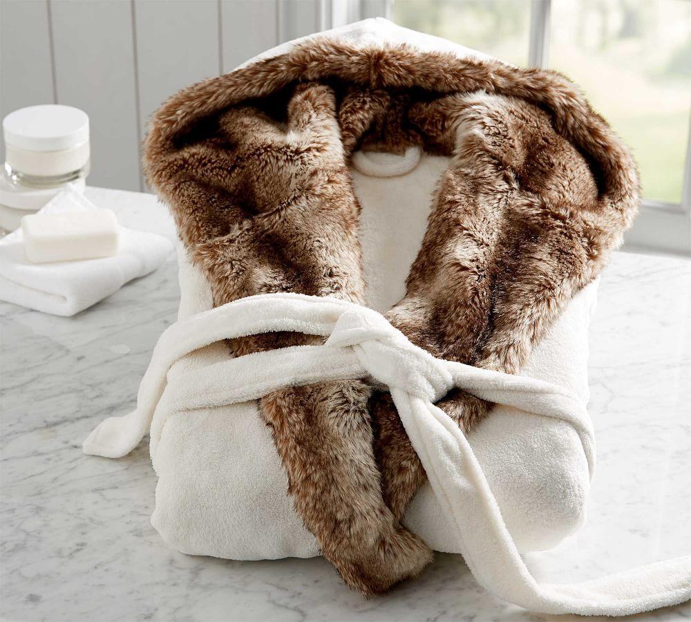 Caramel Ombre Faux Fur Robe