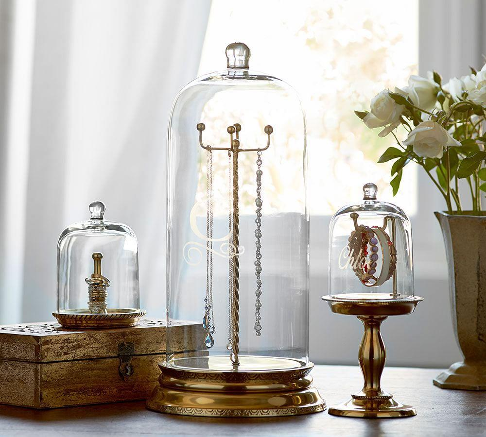 Glass Cloche Jewellery Storage