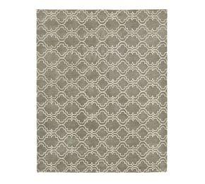 Scroll Tile Rug - Grey