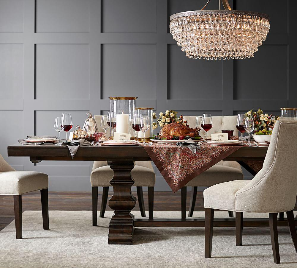 Banks Extending Dining Table Grey Wash Pottery Barn Au