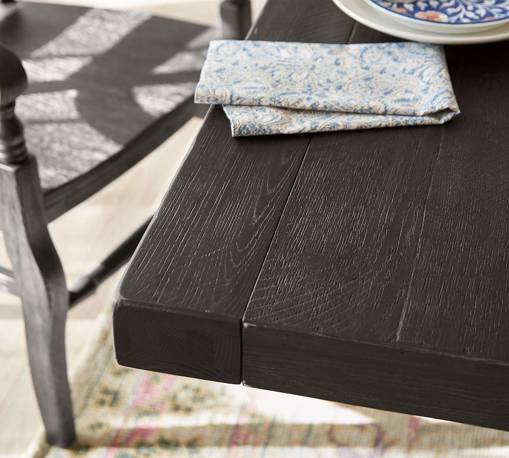 Benchwright Extending Dining Table, Blackened Oak (218 cm - 310 cm)