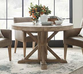 Benchwright Extending Round Table - Seadrift (123 - 183 cm)
