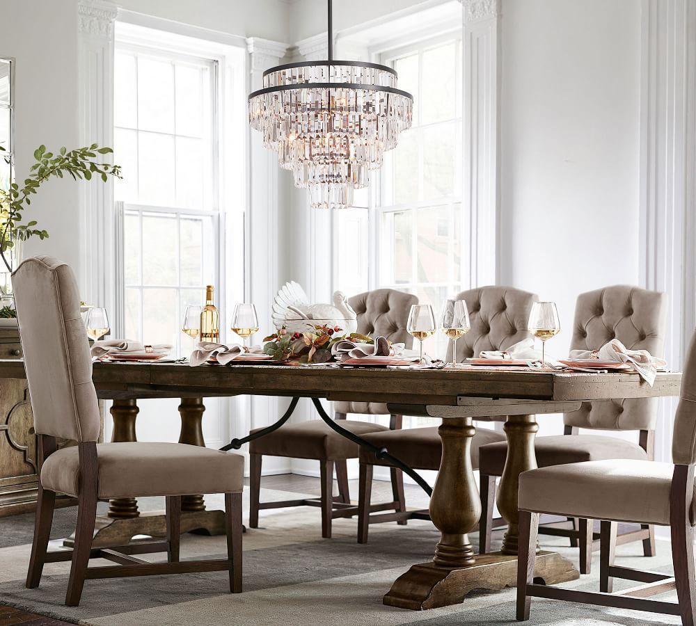 Lorraine Extending Dining Table - Hewn Oak (249 - 305 cm)