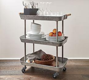 Rainier Galvanised Storage Cart