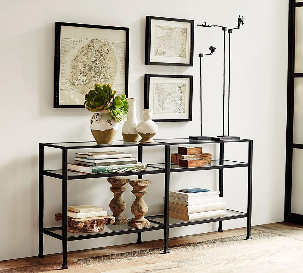 Tanner Long Console Table - Bronze finish