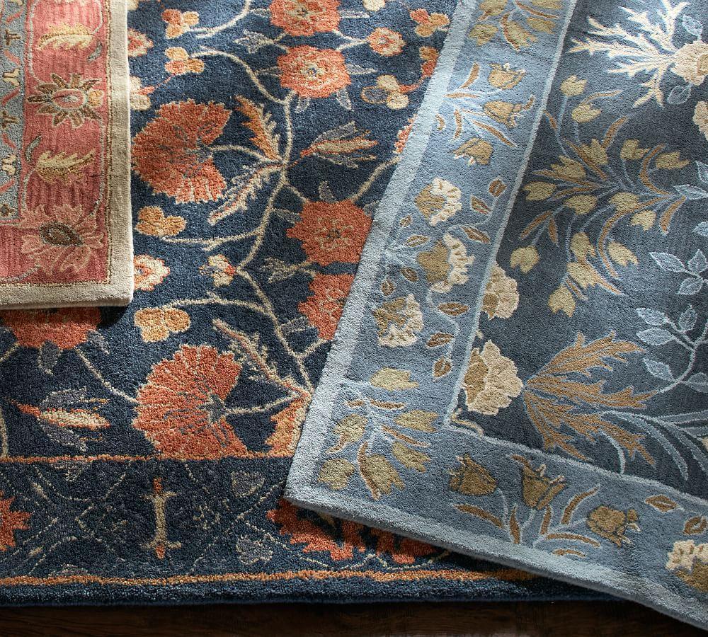 Adeline Tufted Wool Rug Blue Pottery Barn Au