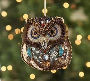 Beaded Owl Ornament