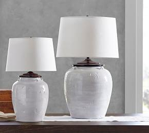 Courtney Ceramic Table Lamp - Ivory