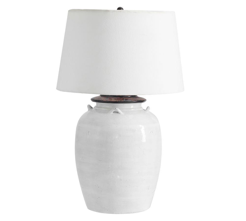 Courtney Ceramic Table Lamp - Ivory