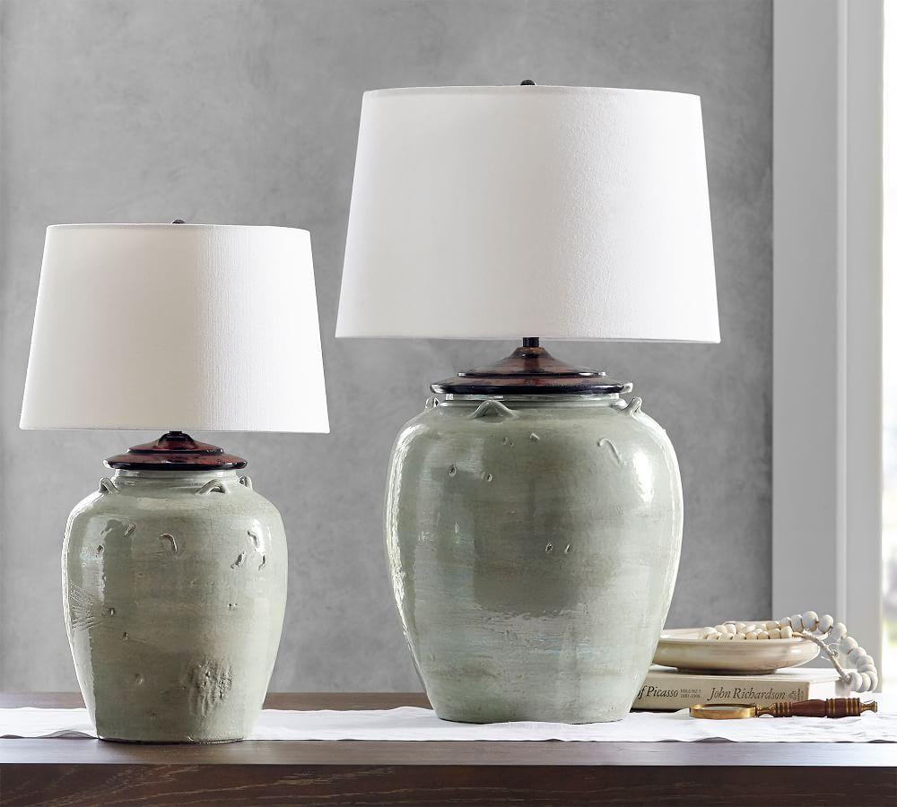 Courtney Ceramic Table Lamp - Blue