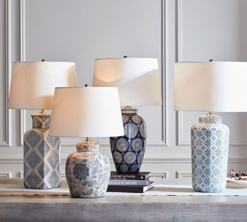 Jamie Young Langley Ceramic Vase Lamp
