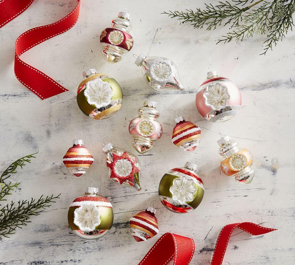 Mixed Vintage Mercury Ornaments, Set of 12