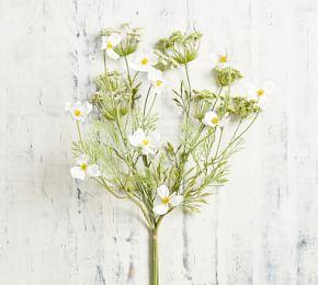 Faux Queen Anne's Lace And Cosmos Bouquet
