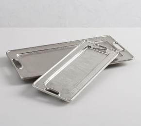 Addison Silver Rectangle Tray