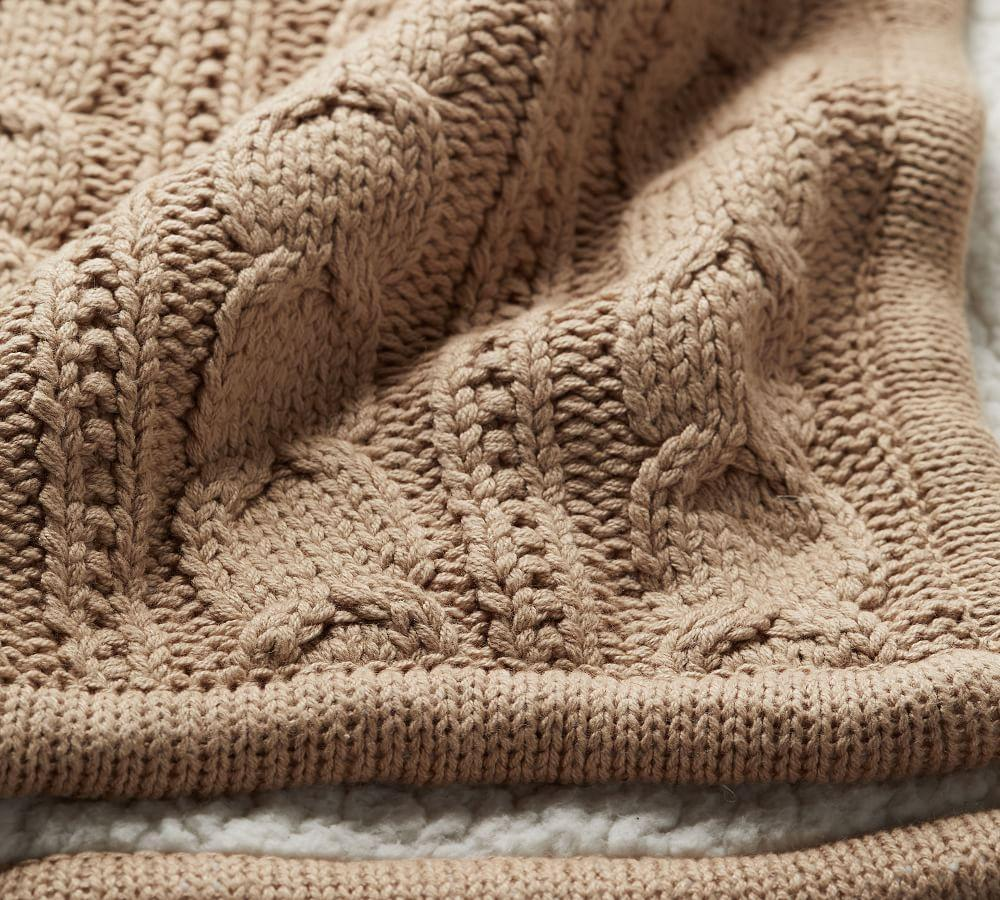 Cosy Cable Knit Throw